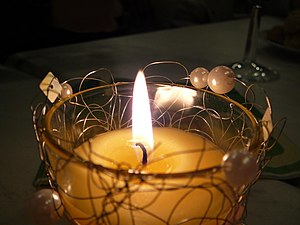 Yellow candle