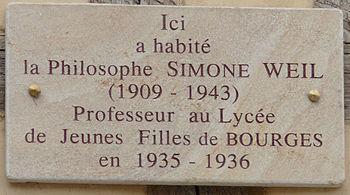 Français : Bourges - 7 place Gordaine - Plaque...