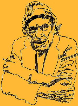English: Charles Bukowski, portrait by italian...