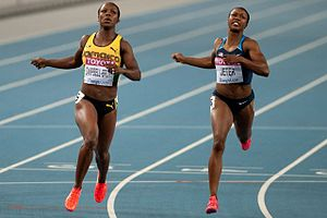 English: Veronica Campbell-Brown and Carmelita...