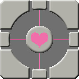 The Companion Cube from the video game Portal.