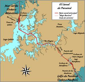 English: Wikpedia Commons' Diagram of Panama C...