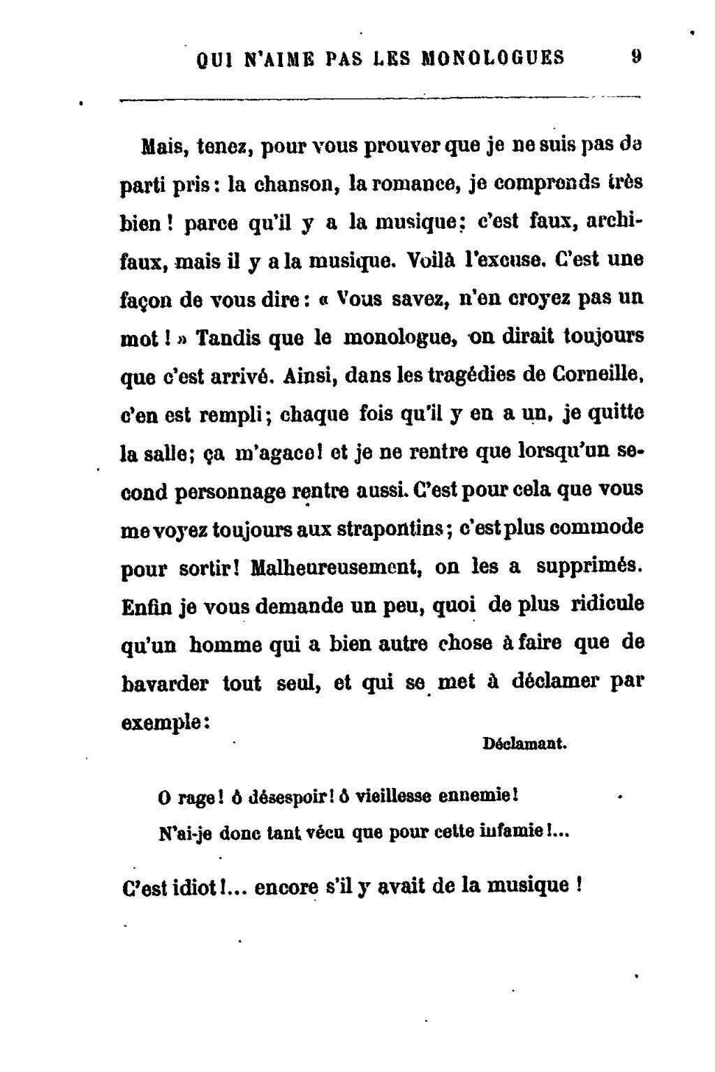 Qu Est Ce Qu Un Monologue : monologue, Page:Feydeau, Monsieur, N'aime, Monologues.djvu/9, Wikisource