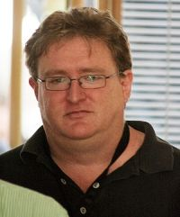 Gabe Newell heading towards our Interview at t...