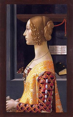 Portrait of Giovanna Tornabuoni (née Giovanna ...