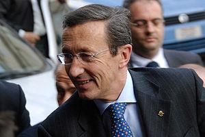 Gianfranco Fini, former Italian foreign minist...