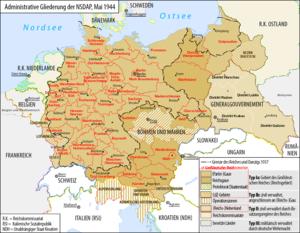 Deutsch: Karte der administrativen Gliederung ...