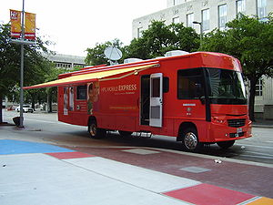 Houston Public Library bookmobile