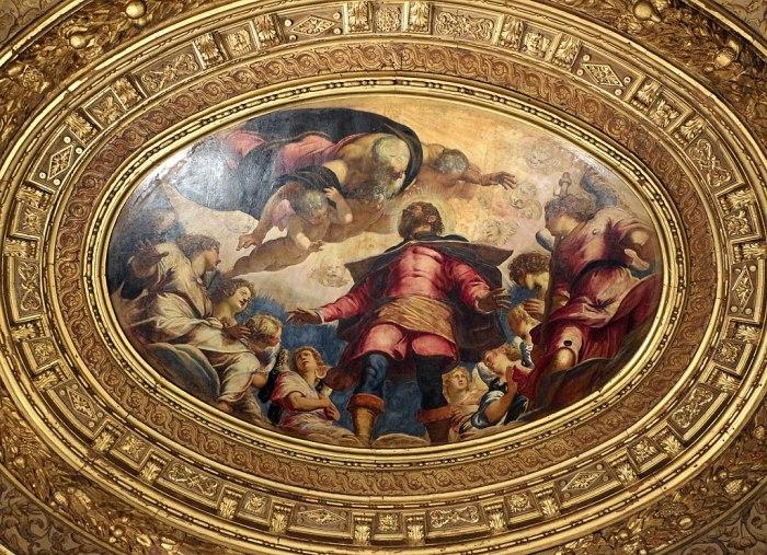 Jacopo tintoretto, soffitto, san rocco in gloria, 1564, 02