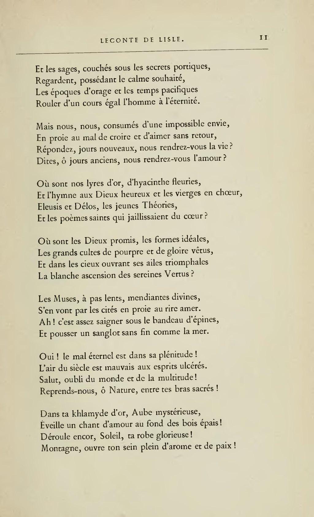 Poème D'amour Du 19ème Siècle : poème, d'amour, 19ème, siècle, Page:Lemerre, Anthologie, Poètes, Français, XIXème, Siècle,, 1887.djvu/21, Wikisource