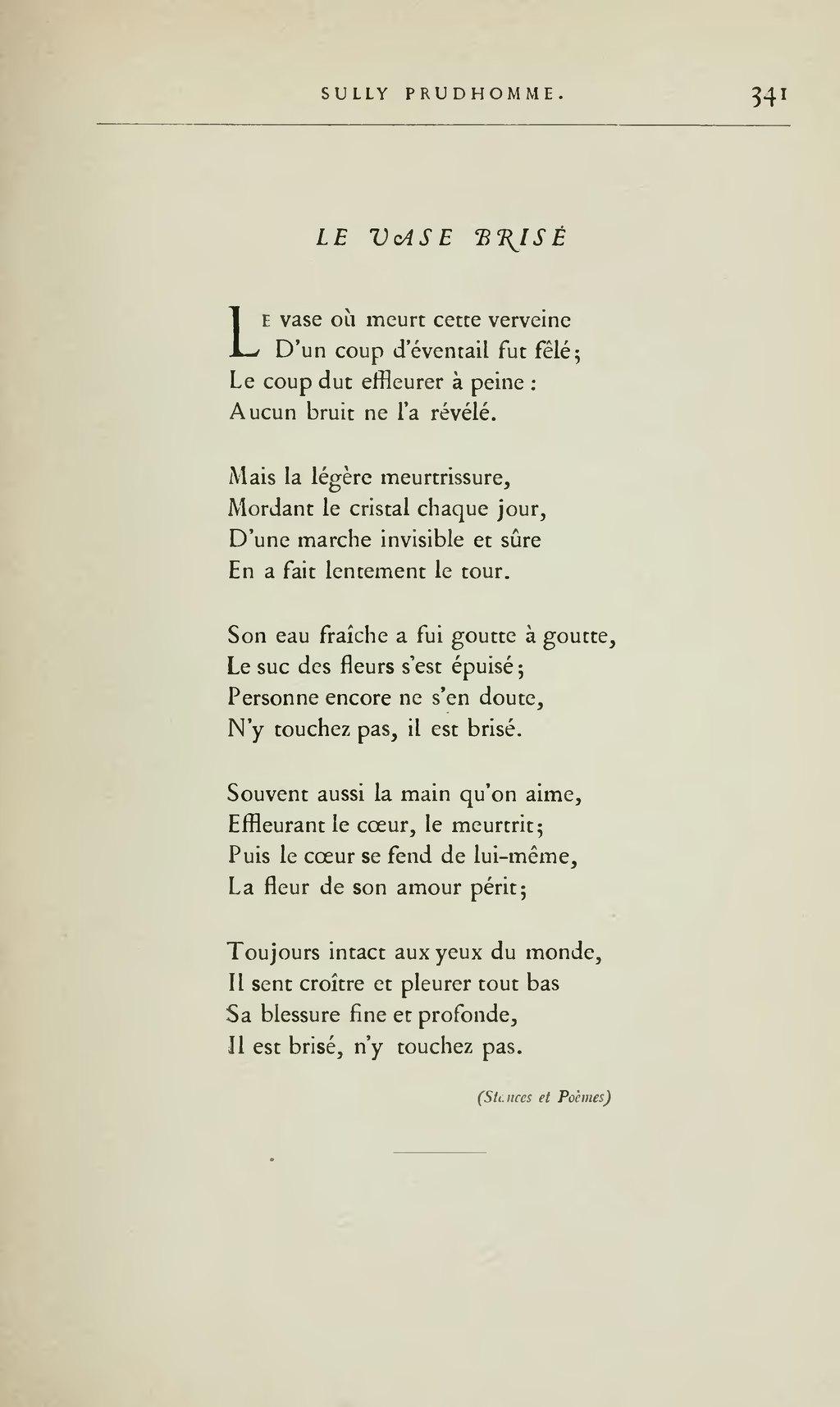 Poème D'amour Du 19ème Siècle : poème, d'amour, 19ème, siècle, Page:Lemerre, Anthologie, Poètes, Français, XIXème, Siècle,, 1887.djvu/363, Wikisource