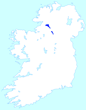Location map of the Lough Erne in Ireland