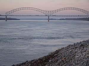 The Hernando de Soto Bridge in Memphis, Tennes...