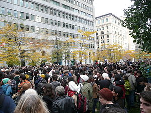English: Participants at Occupy Montreal on Sa...