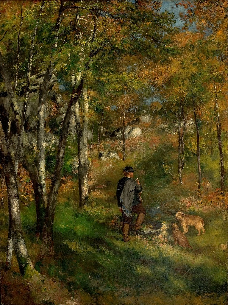 Le Coeur De La Foret : coeur, foret, File:Pierre-Auguste, Renoir, Peintre, Jules, Coeur, Chiens, Forêt, Fontainebleau, (1866).jpg, Wikimedia, Commons