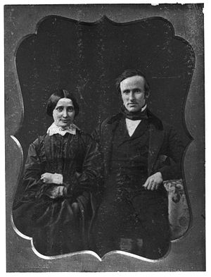 Rutherford B. Hayes and his wife on their wedd...