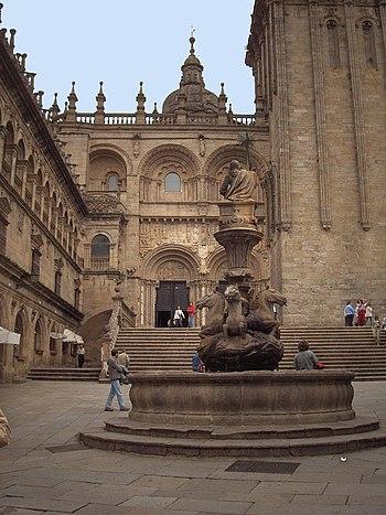 ¨raza das Praterias; cathedral of Santiago de ...