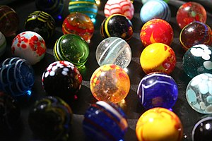 Hand-made marbles from West Africa