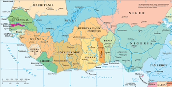 Political Map of West Africa