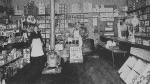 Interior of a dry grocer, downtown Vancouver, ...