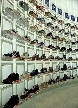 Adidas shop in Tokyo, Japan (description at fl...
