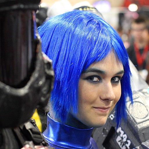 Blue hair Comicon 2009