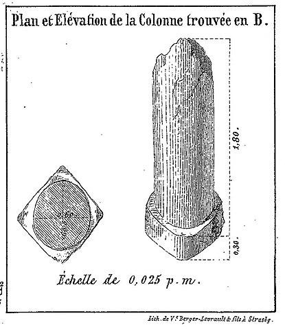 Fichier:Colonne de la forêt de Weitbruch, dessin 1860.jpg