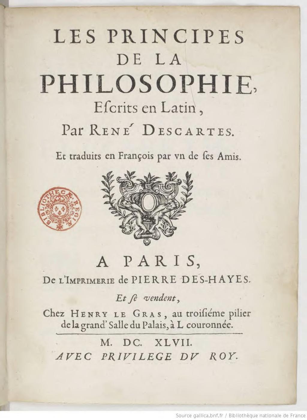 Descartes Principes De La Philosophie : descartes, principes, philosophie, Page:Descartes, Principes, Philosophie,, 1647.djvu/9, Wikisource