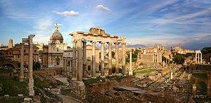 Blick über das Forum Romanum, Rom