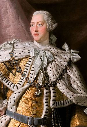 Detail of King George III (in coronation robes).