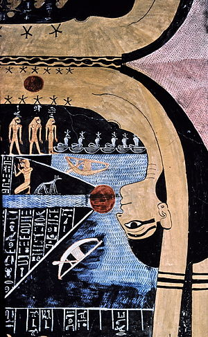 English: Nut, Egyptian goddess of the sky in t...