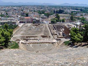 The ancient theatre in Argos
