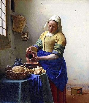 Dutch working girl (17th century) as portrayed...