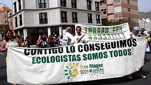 Demonstration of Ben Magec - Ecologistas en Acción