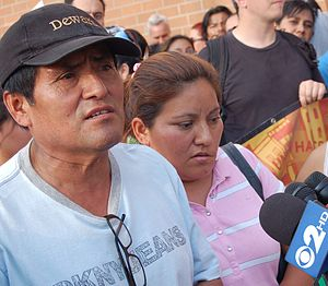 English: Bias crime victim Alejandro Galindo a...