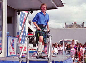 Nicky Campbell presenting the Radio 1 Roadshow...