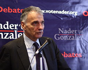 English: Independent presidential candidate Ra...