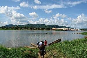 Ubangi (Oubangui) River at the outskirts of Ba...