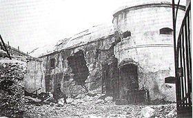 Quel che era rimasto del forte dopo i bombardamenti austriaci