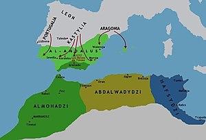 Polski: Imperium almohadzkie po 1212r.