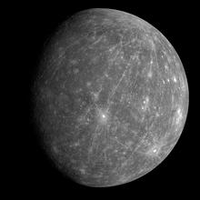 बुध ग्रह की मैसेन्जर यान द्वारा ली गयी तस्वीर