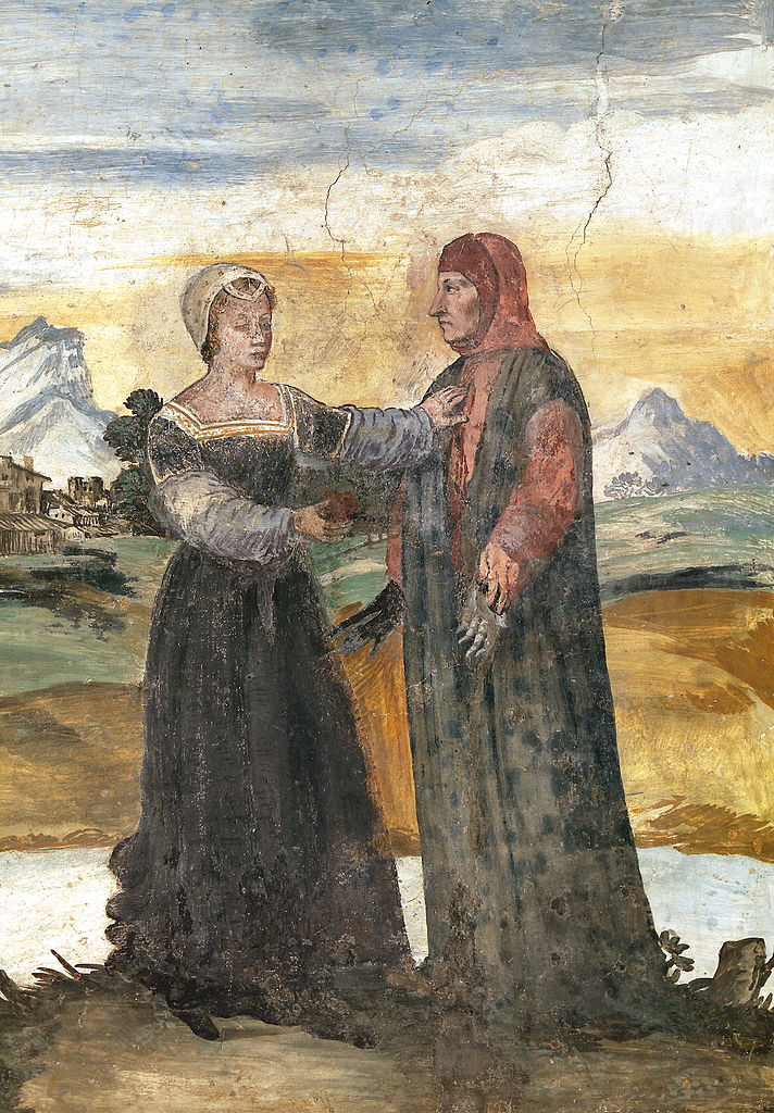 Casa di Francesco Petrarca, Laura e il Poeta