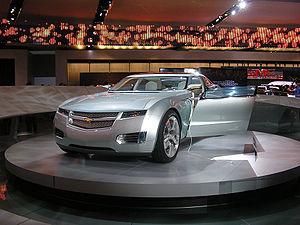 The Chevrolet Volt concept car at North Americ...