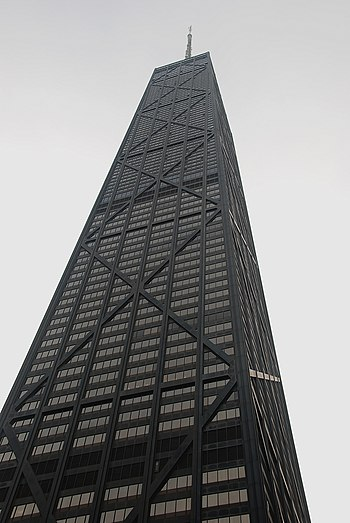 The Hancock Tower, at Michigan Avenue, Chicago.