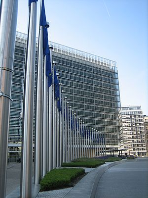 Outside the Berlaymont building of the Europea...