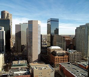English: Downtown skyscrapers in Denver, Colorado.