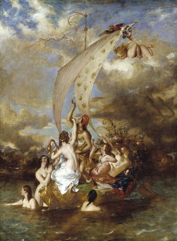 """Youth on the Prow, and Pleasure at the Helm"" by William Etty"