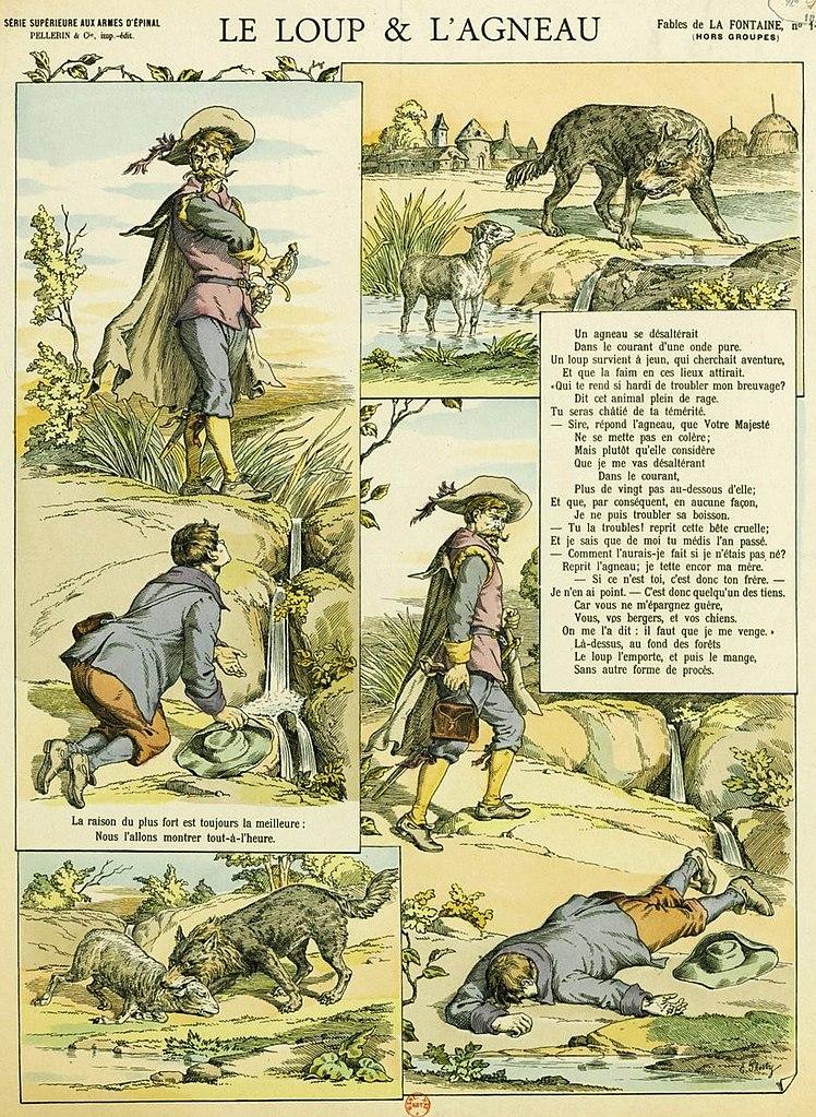 La Fontaine Le Loup Et L'agneau : fontaine, l'agneau, File:Fables, Fontaine, Epinal, L'agneau.jpg, Wikimedia, Commons