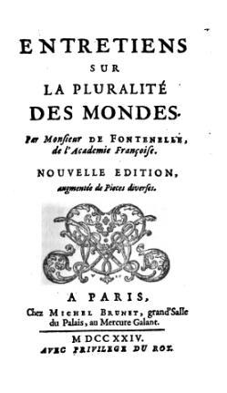 Fontenelle Entretiens Sur La Pluralité Des Mondes : fontenelle, entretiens, pluralité, mondes, Entretiens, Pluralité, Mondes, Wikipédia