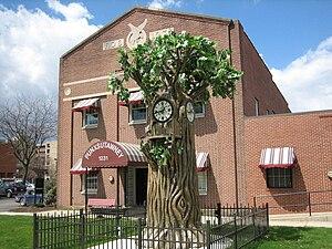 English: Groundhog clock in Punxsutawney, Penn...